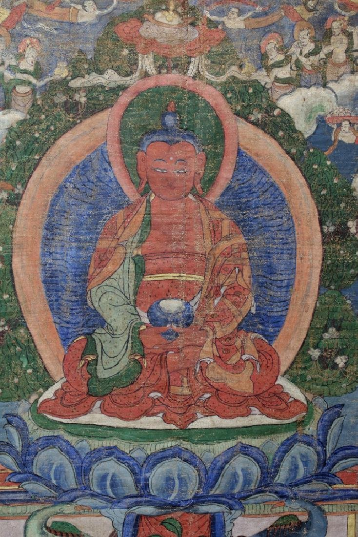 18th C. Tibetan Thangka - Lineage Tree of Gelugpa Sect - 3