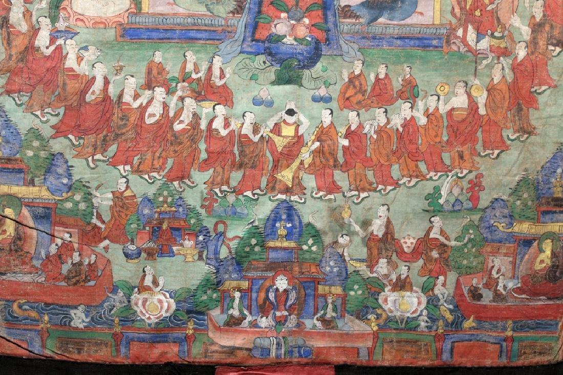 18th C. Tibetan Thangka - Lineage Tree of Gelugpa Sect - 4