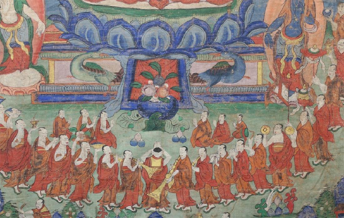 18th C. Tibetan Thangka - Lineage Tree of Gelugpa Sect - 5