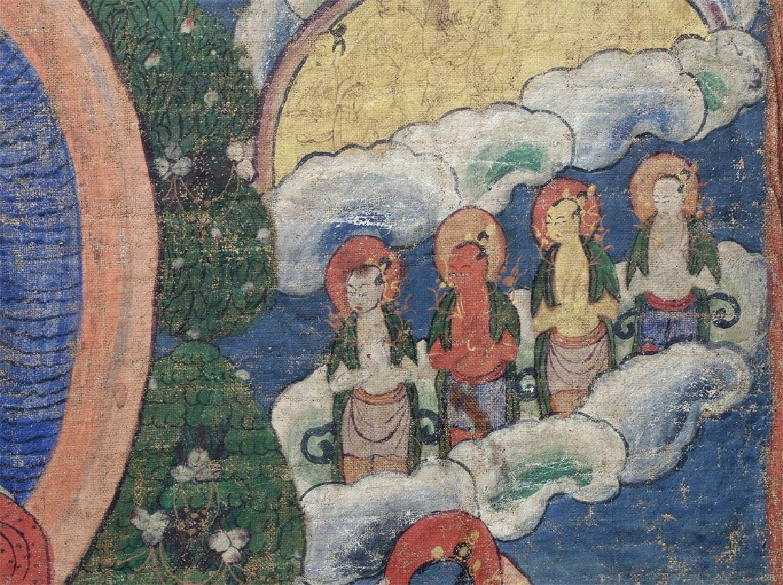 18th C. Tibetan Thangka - Lineage Tree of Gelugpa Sect - 7