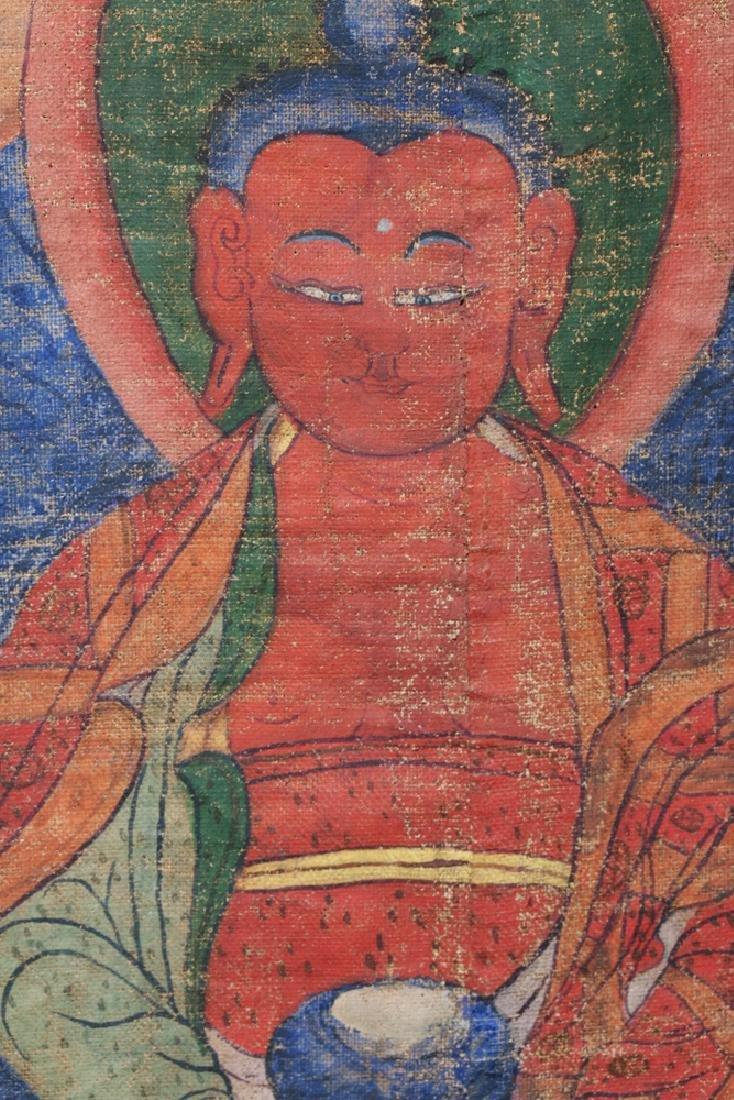 18th C. Tibetan Thangka - Lineage Tree of Gelugpa Sect - 8