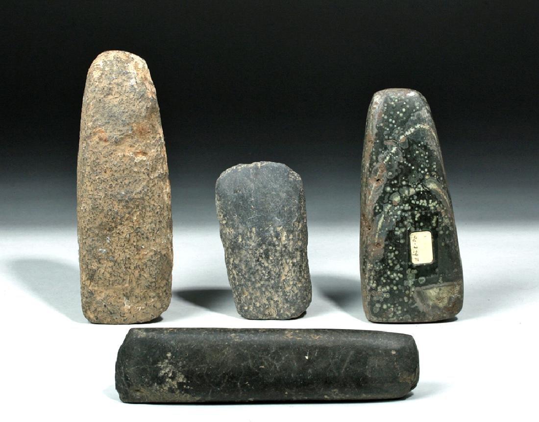Lot of 4 Proto-Mayan Stone Celts