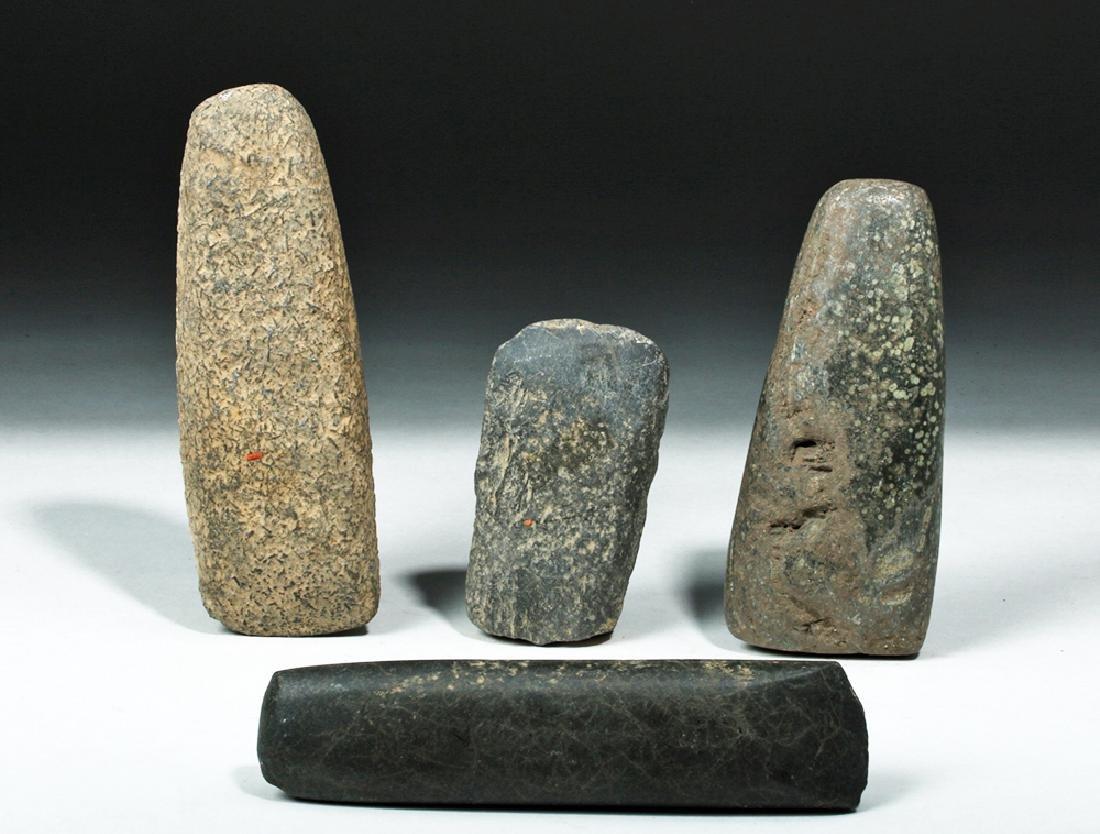 Lot of 4 Proto-Mayan Stone Celts - 2