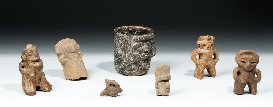 Lot of 7 Ancient Mayan Terracotta Objects - 5
