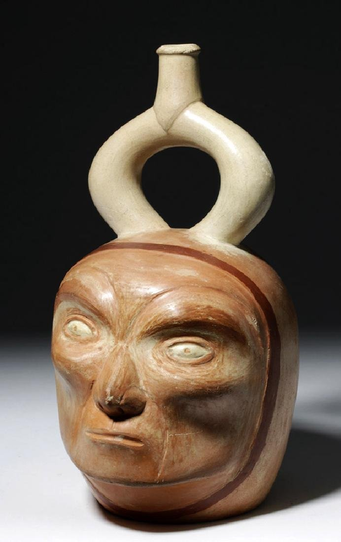 Moche I Polychrome Portrait Vessel - Old Man