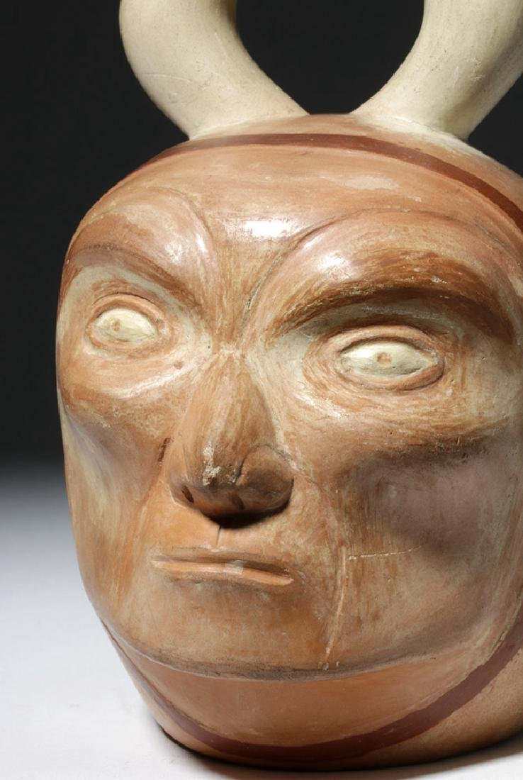 Moche I Polychrome Portrait Vessel - Old Man - 5