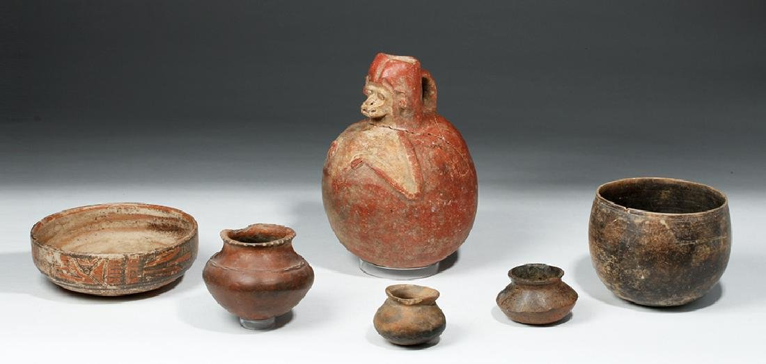 Lot of 6 Pre-Columbian Pottery Vessels - 2