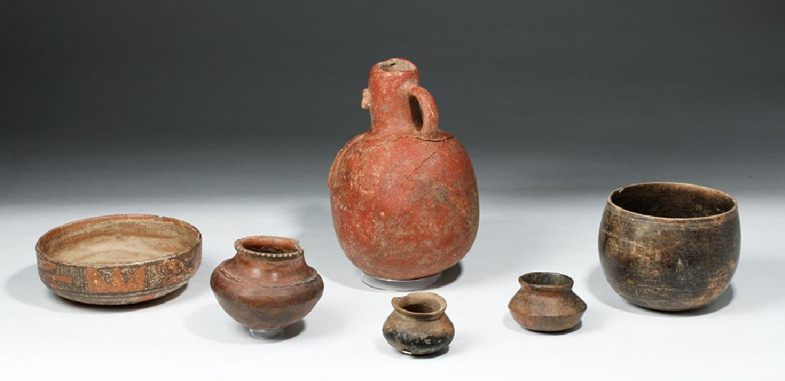 Lot of 6 Pre-Columbian Pottery Vessels - 3