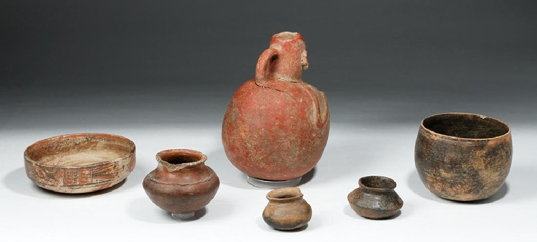 Lot of 6 Pre-Columbian Pottery Vessels - 4