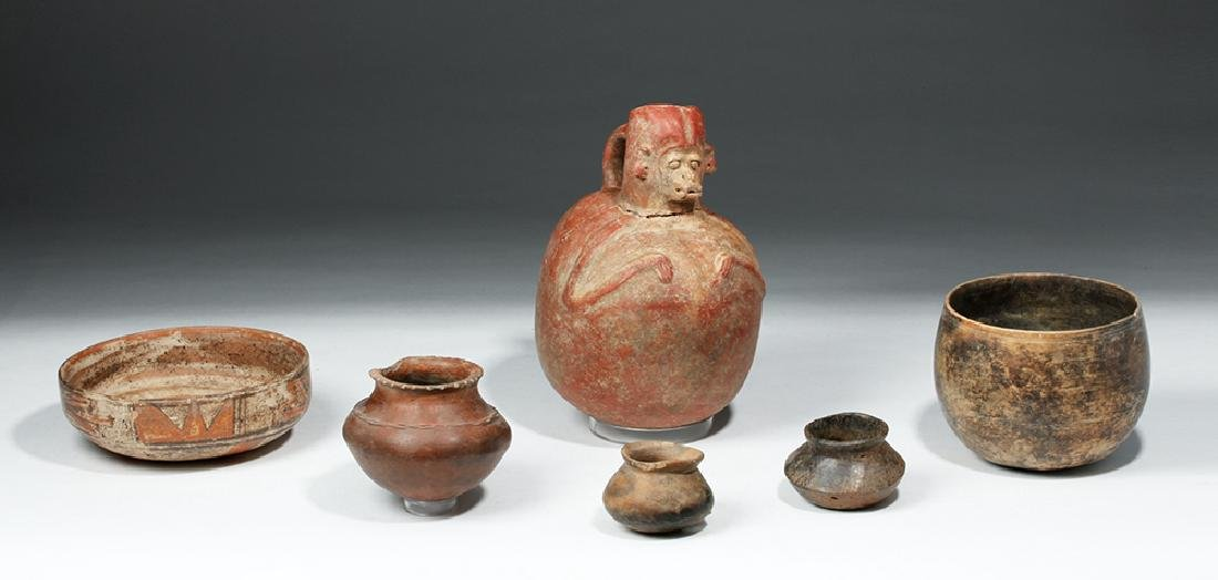 Lot of 6 Pre-Columbian Pottery Vessels - 5