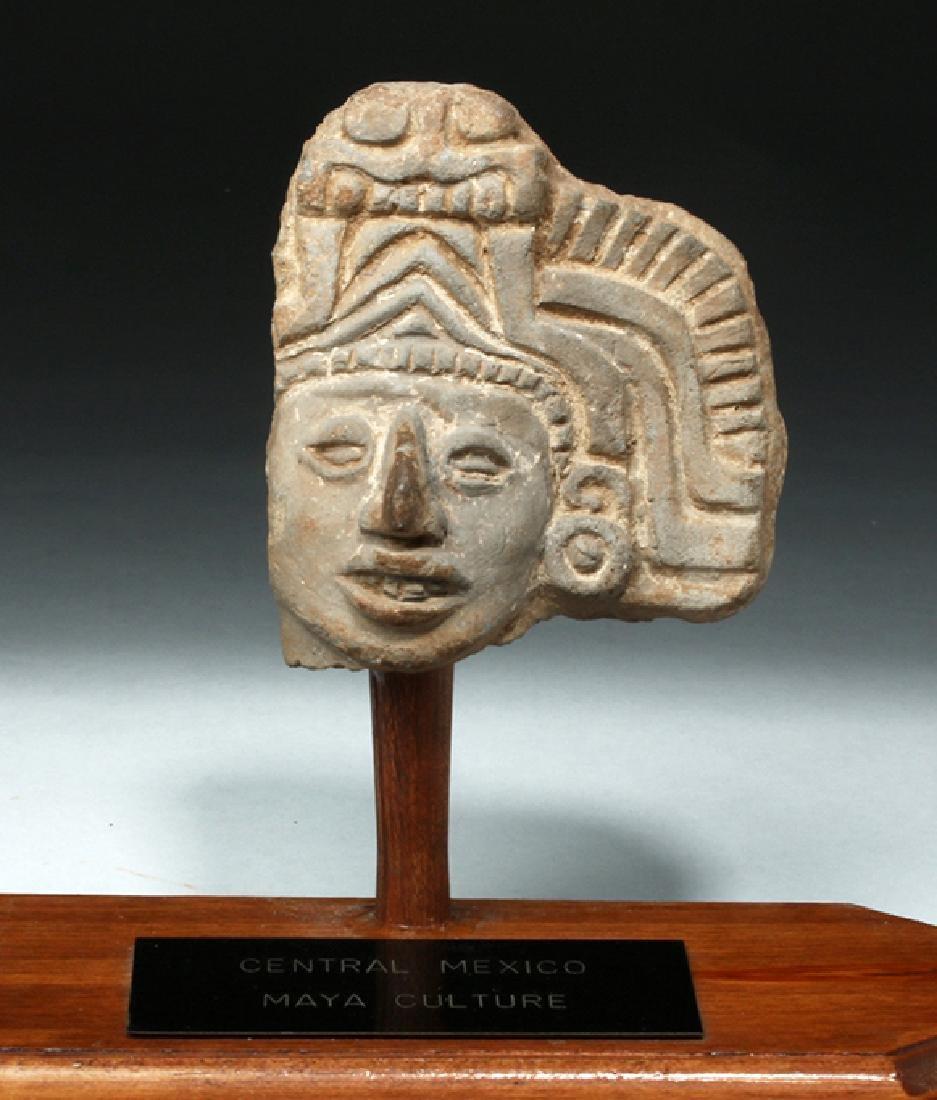 Pre-Columbian Mayan Terracotta Head Fragment