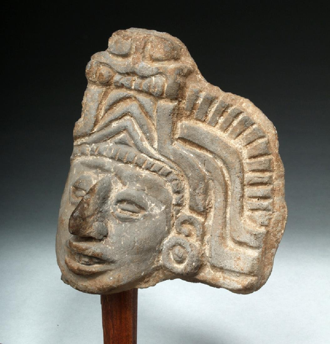 Pre-Columbian Mayan Terracotta Head Fragment - 2