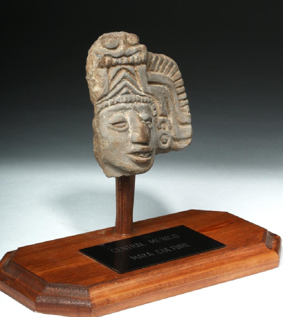 Pre-Columbian Mayan Terracotta Head Fragment - 5