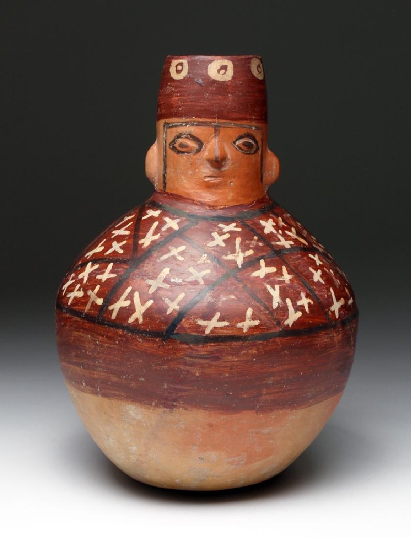 Huari Polychrome Figural Vessel, ex-Arte Primitivo
