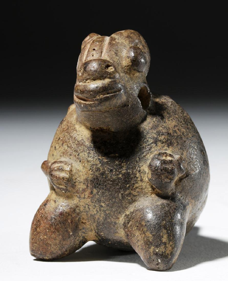 Large Mixtec Copper Bell & Costa Rican Pottery Ocarina - 8