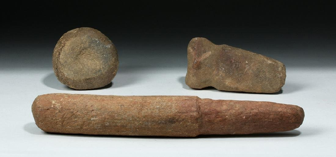 Trio of Native American Stone Tools