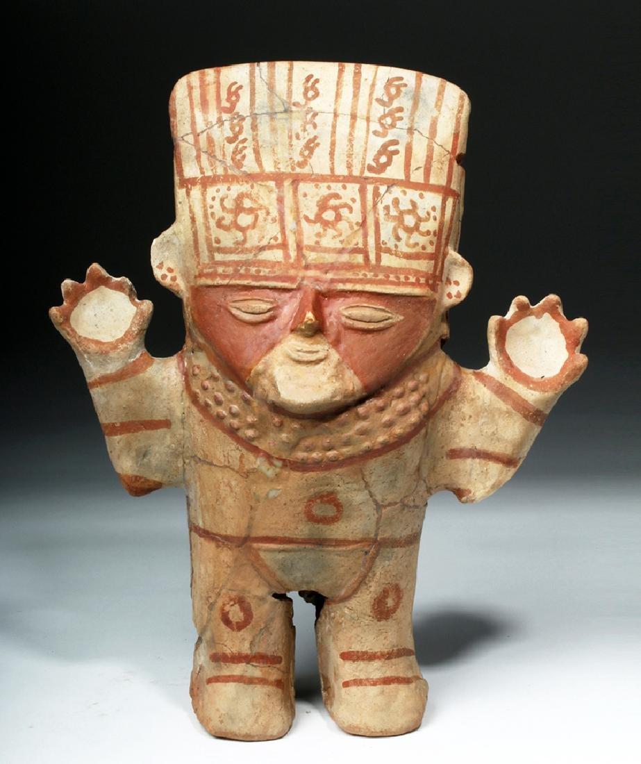 Chancay Pottery Standing Cuchimilco Figure