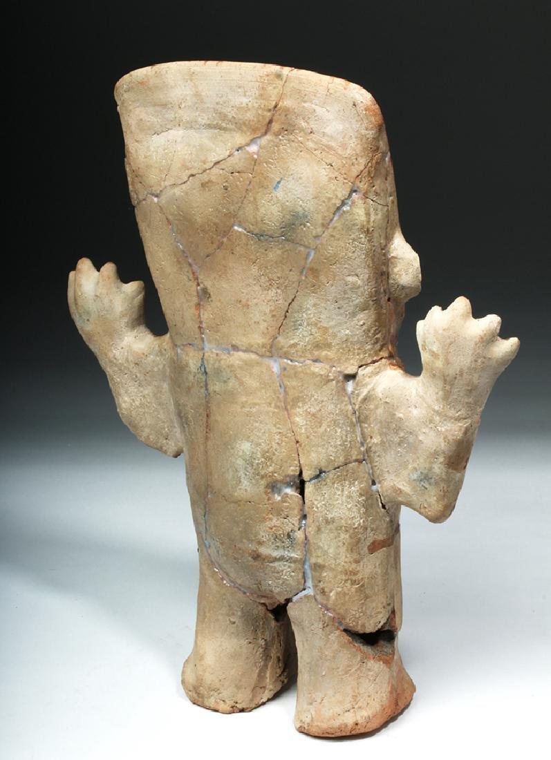 Chancay Pottery Standing Cuchimilco Figure - 4
