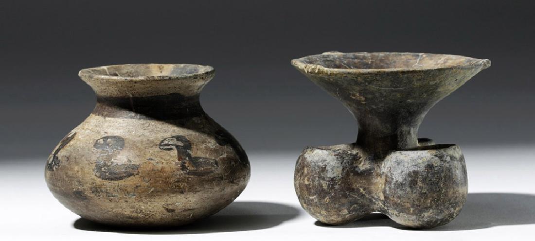 Pair of Mixtec Pottery Vessels