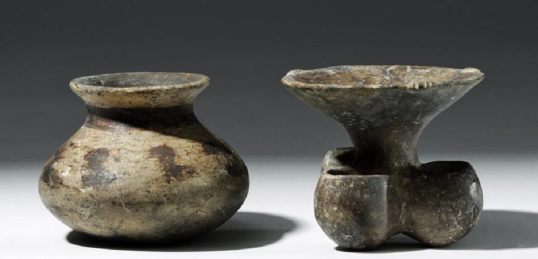 Pair of Mixtec Pottery Vessels - 2