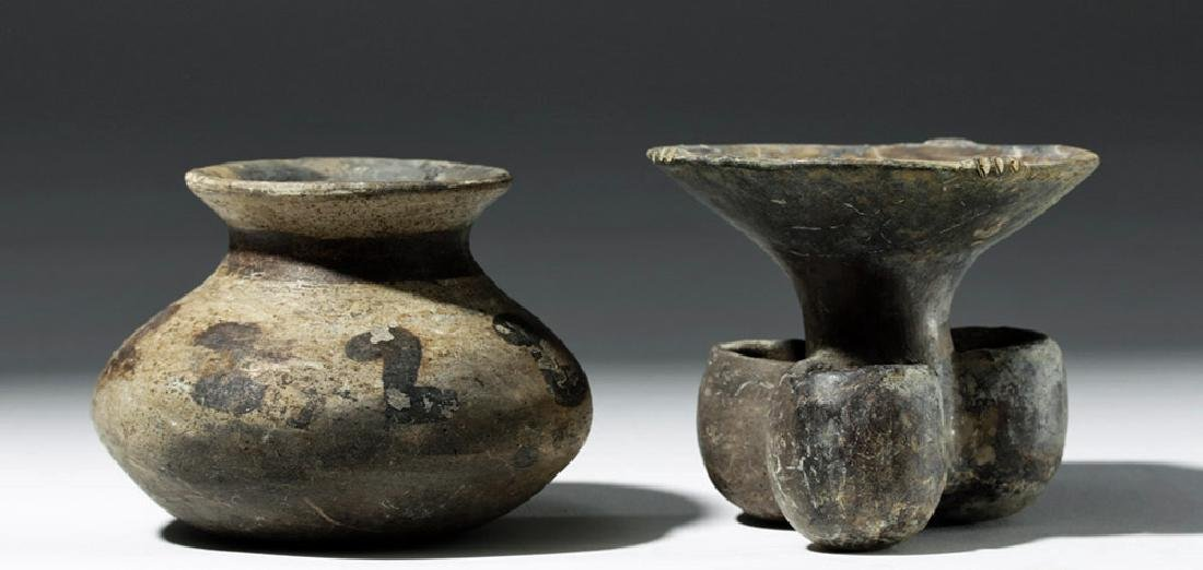 Pair of Mixtec Pottery Vessels - 3