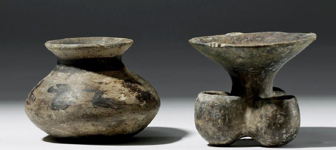 Pair of Mixtec Pottery Vessels - 4