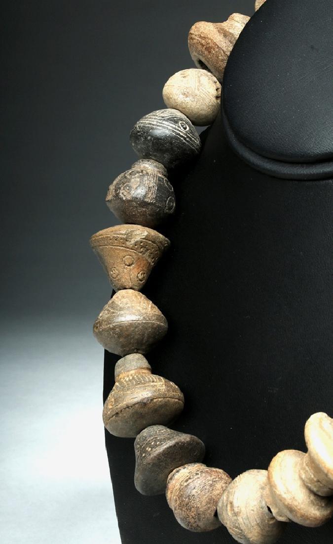 Ecuadorian Pottery Necklace - 24 Spindle Whorls - 3