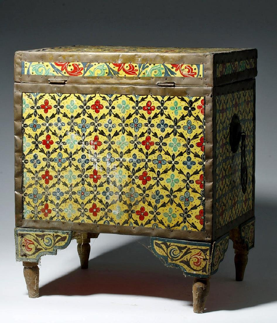 20th C. Latin American Painted Wood Trunk - 3