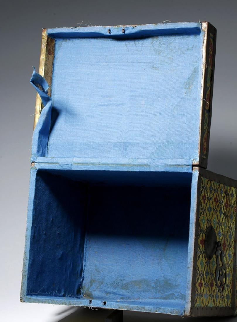 20th C. Latin American Painted Wood Trunk - 6