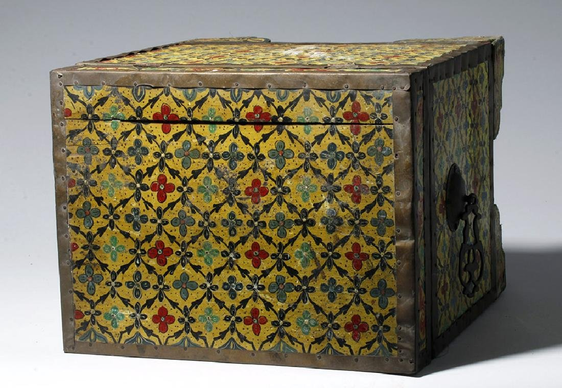 20th C. Latin American Painted Wood Trunk - 7
