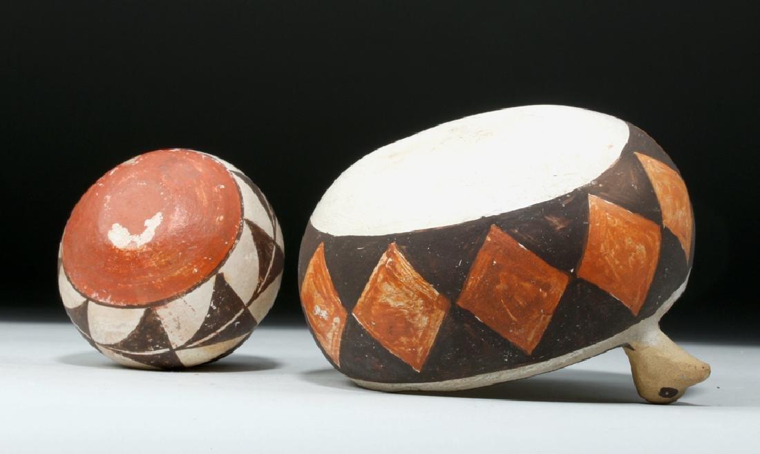 Mid 20th C. Acoma w/ Bird Heads + Cochiti Pottery Bowls - 7