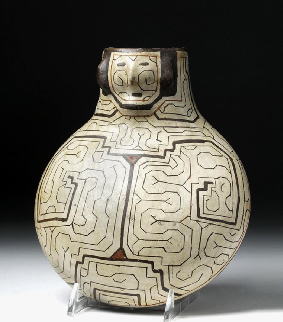 Shipibo Pottery Canteen in Human Form - Rare Shape