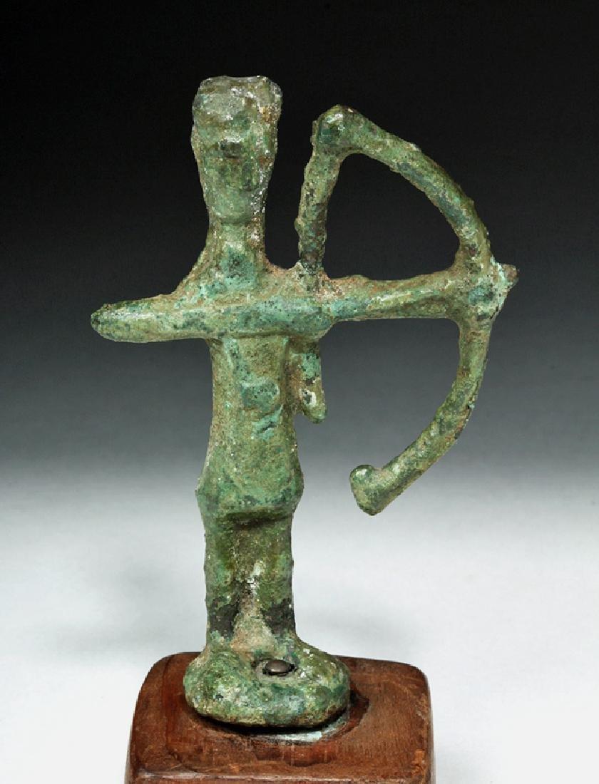 Rare Ancient Sardinian Nuragic Bronze Archer