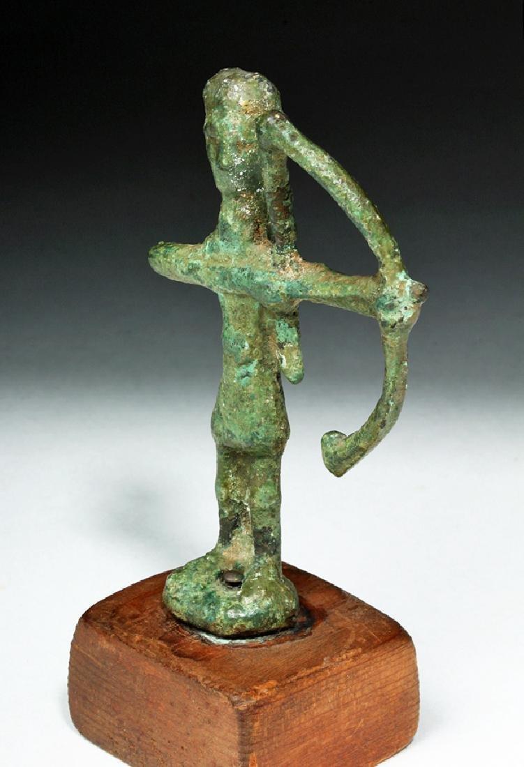 Rare Ancient Sardinian Nuragic Bronze Archer - 2