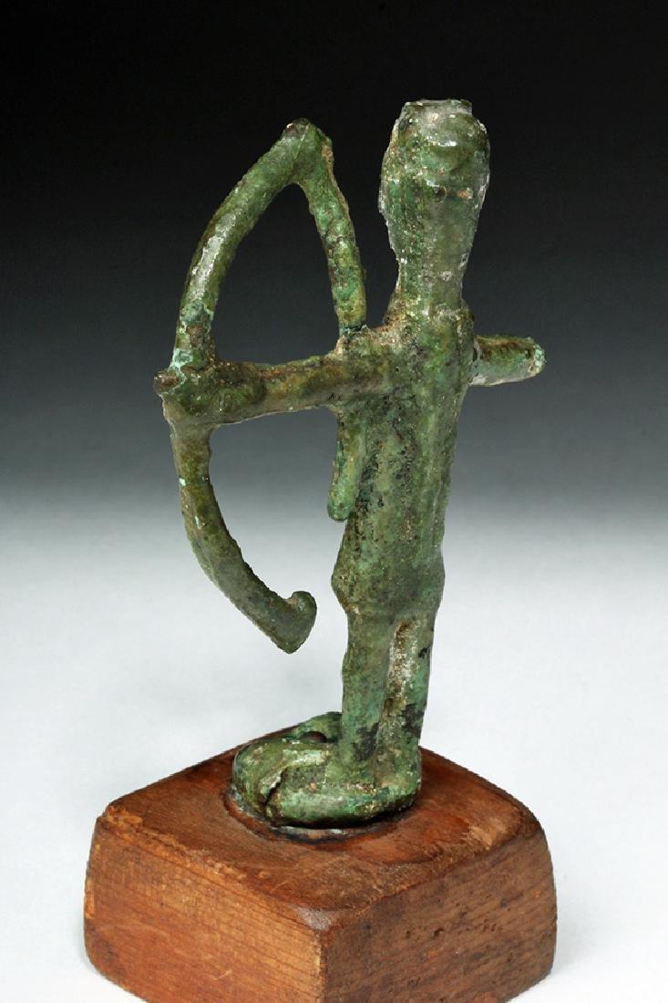 Rare Ancient Sardinian Nuragic Bronze Archer - 3