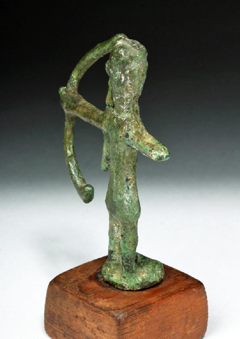 Rare Ancient Sardinian Nuragic Bronze Archer - 4