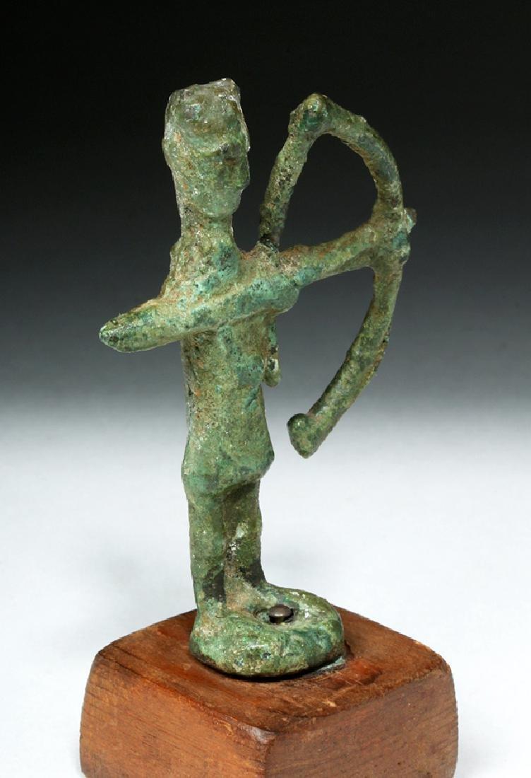 Rare Ancient Sardinian Nuragic Bronze Archer - 5