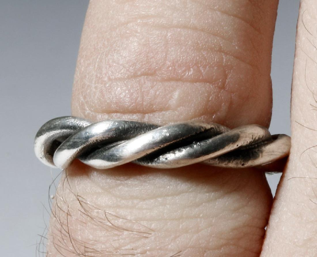 Beautiful Viking Twisted Silver Ring