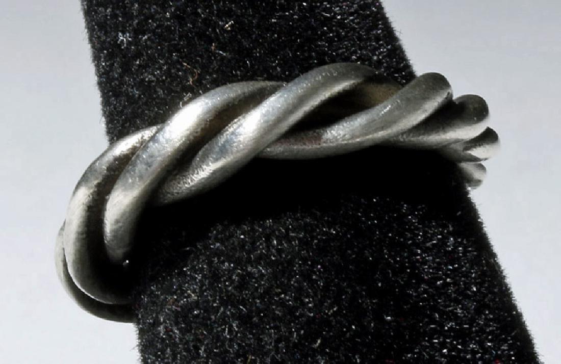 Beautiful Viking Twisted Silver Ring - 4