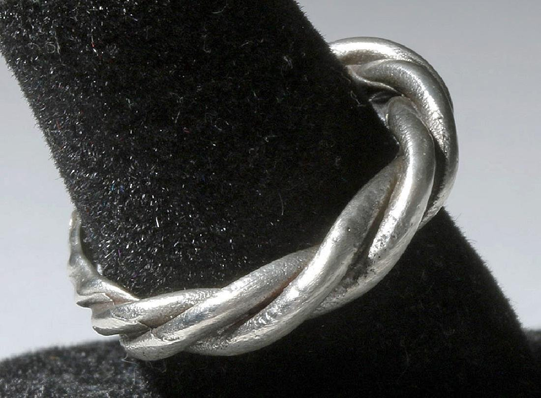 Beautiful Viking Twisted Silver Ring - 5