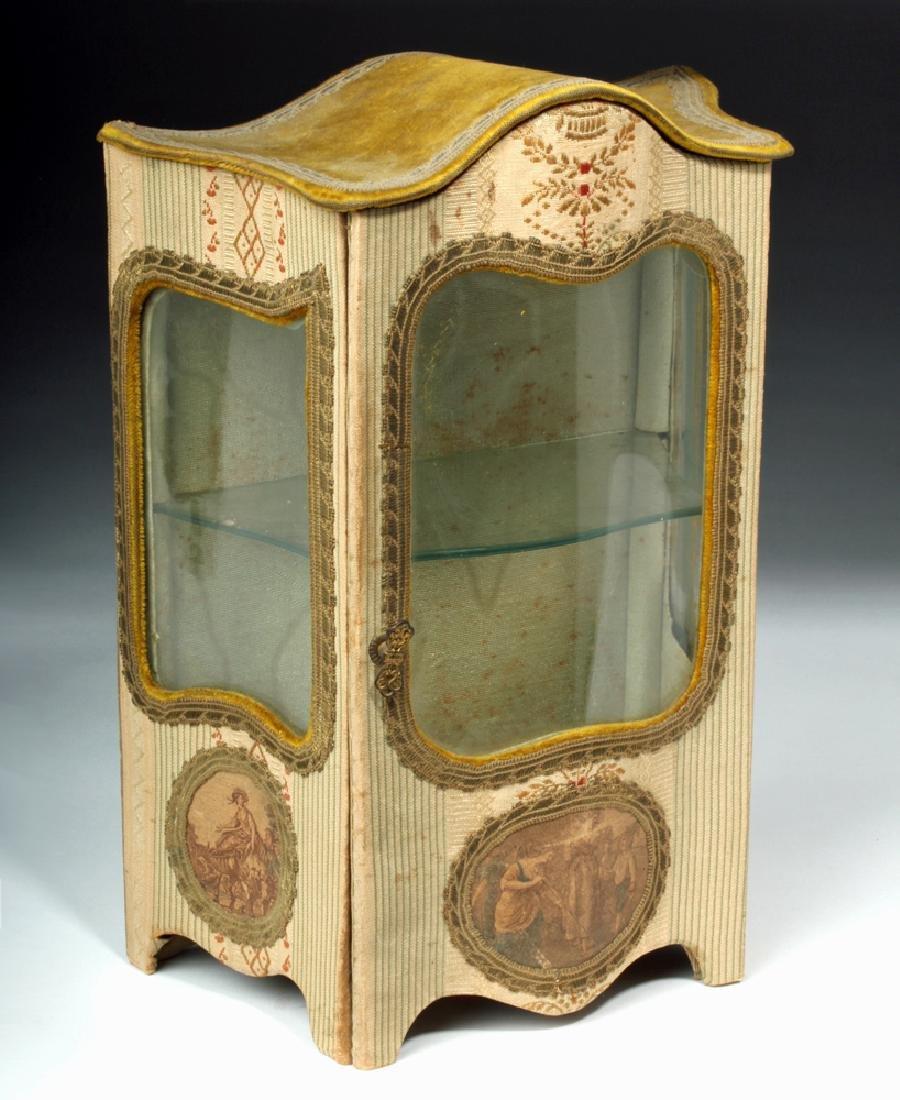 19th C. French Vernis Martin Miniature Hutch