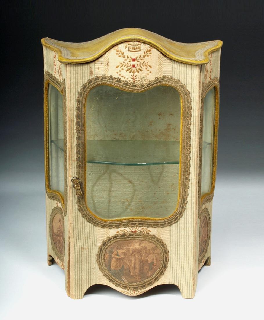 19th C. French Vernis Martin Miniature Hutch - 2