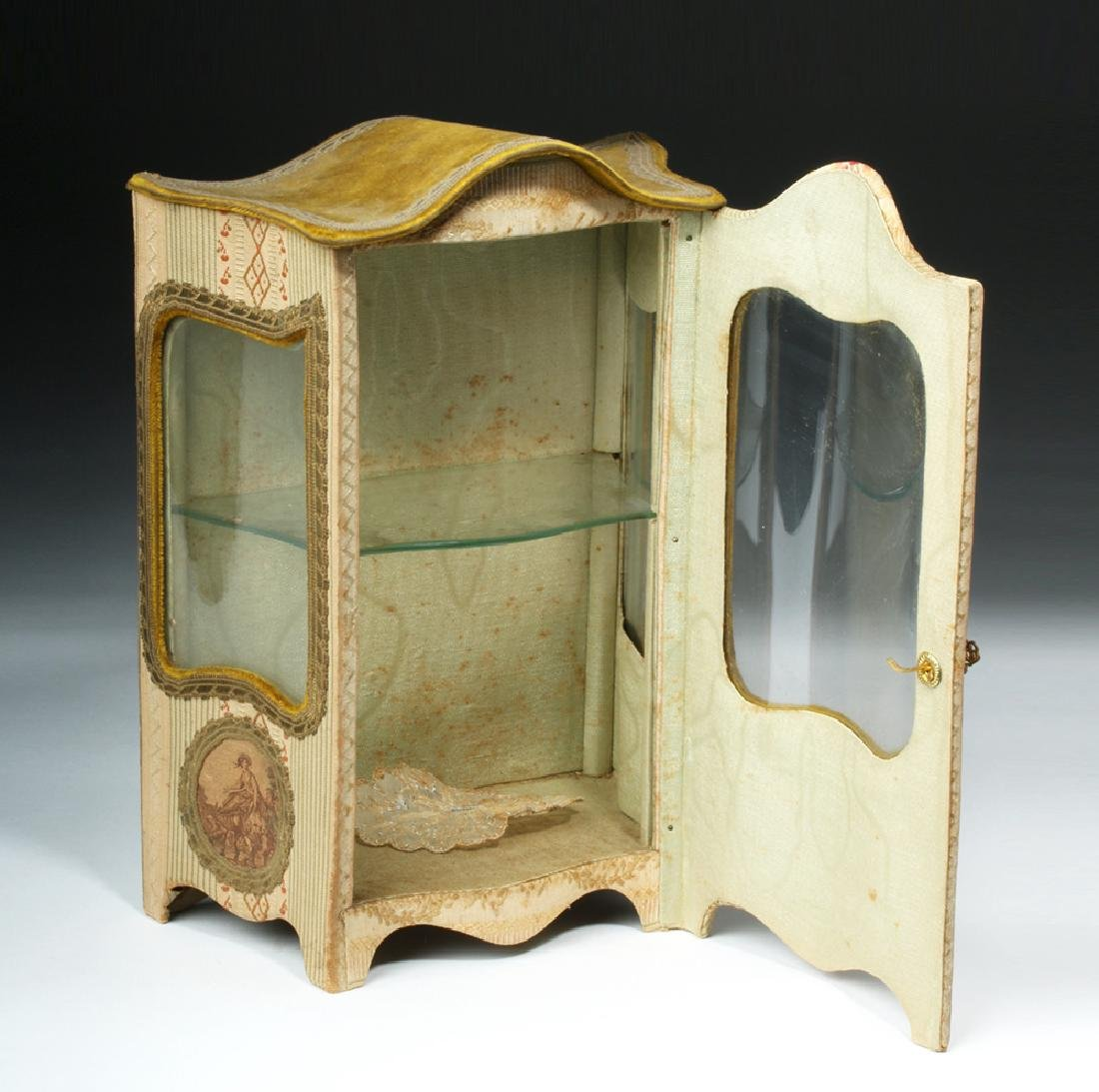 19th C. French Vernis Martin Miniature Hutch - 3