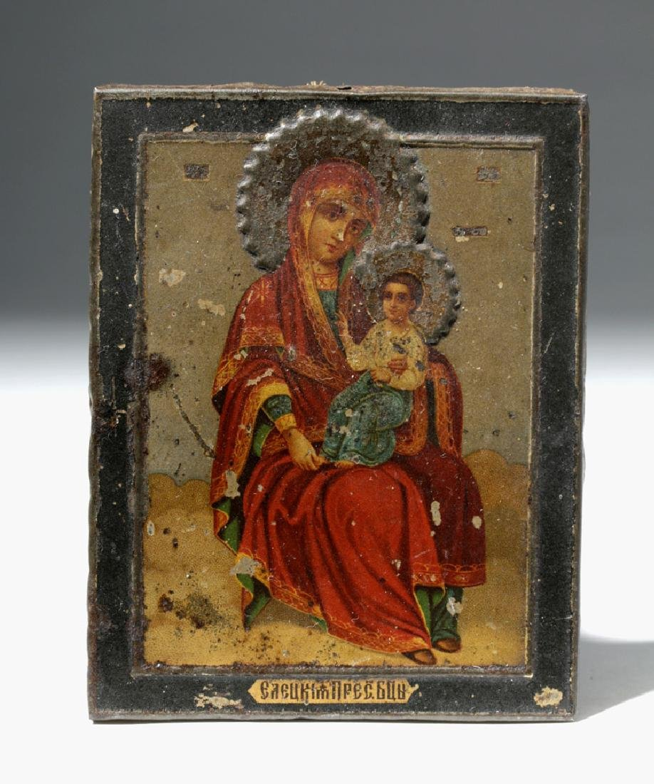19th C. Russian Icon - Mother of God