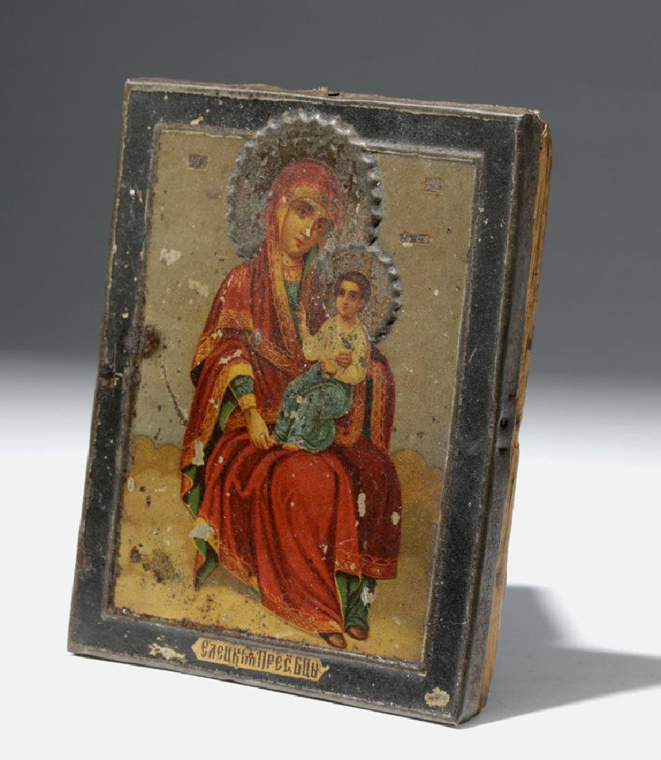19th C. Russian Icon - Mother of God - 5