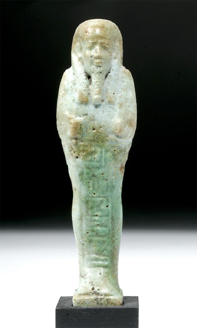 Egyptian Late Period Faience Ushabti