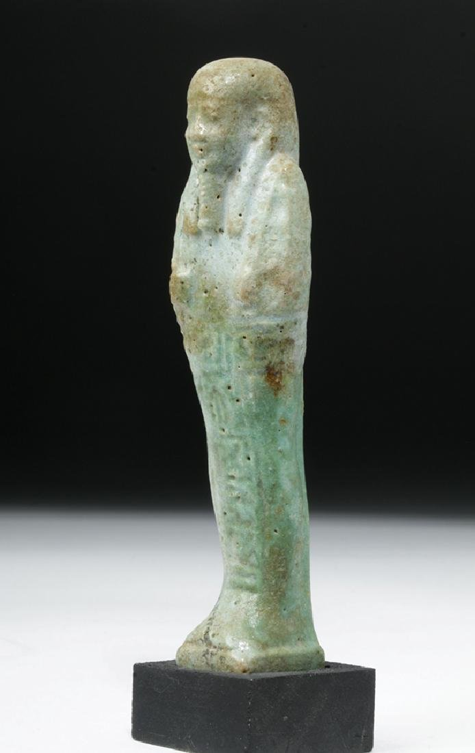 Egyptian Late Period Faience Ushabti - 2
