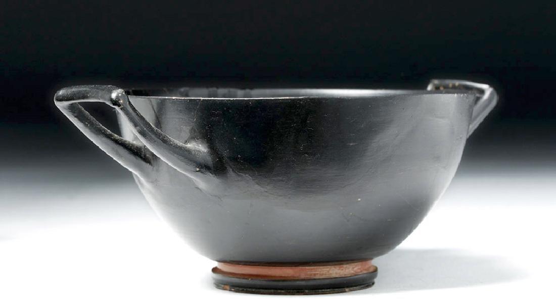 Greek Attic Blackware Kylix - Stamped Motif - 2