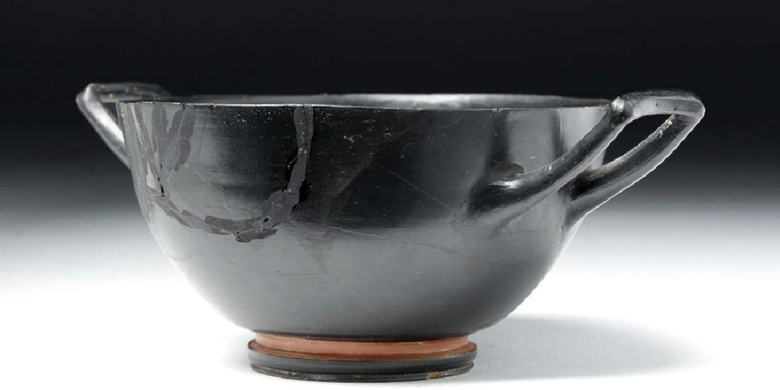 Greek Attic Blackware Kylix - Stamped Motif - 3