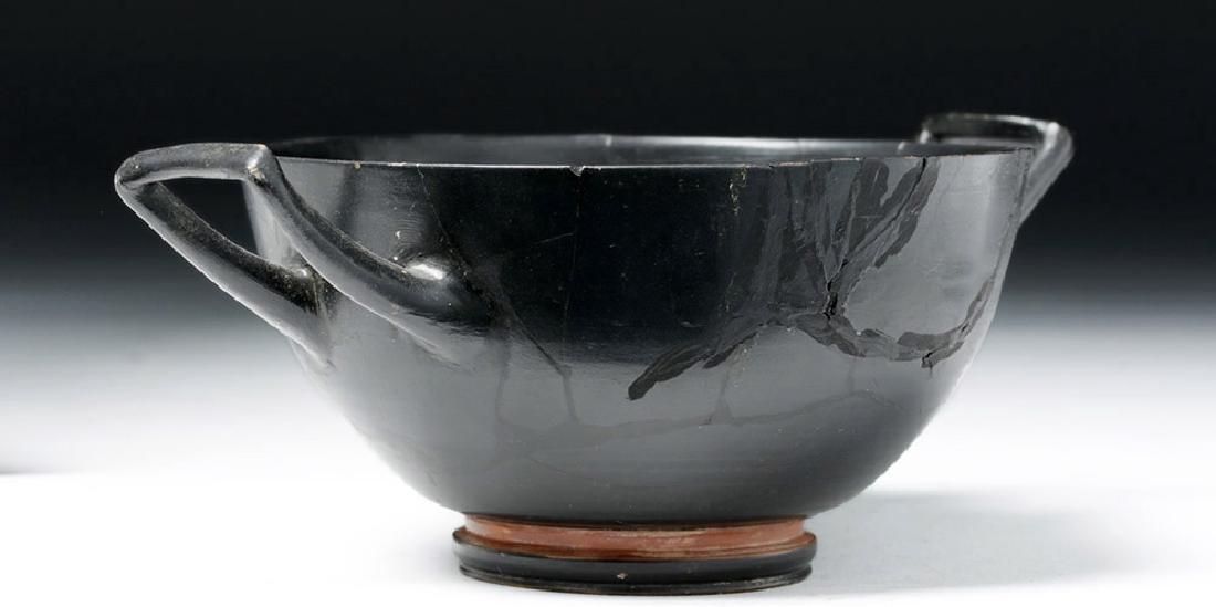 Greek Attic Blackware Kylix - Stamped Motif - 4